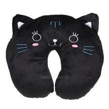 U Shaped Travel Pillow Neck Support Head Rest Cushion Gift Black Cat #Cu3