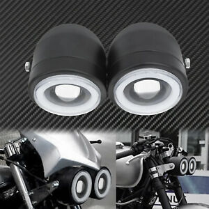 Universal Twin Headlight Motorcycle Double Dual Lamp Fit For Harley Honda Suzuki
