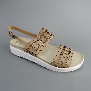LASCANA Sandale Leder Taupe Gr. 40 Damenschuhe Gebraucht