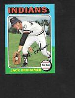 1975 TOPPS LARGE #552 Jack Brohamer  CLEVELAND INDIANS  NM +   B