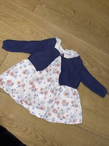 Baby Girl Peter Rabbit Newborn Up To 1 Month Dress And Cardigan Outfit Set