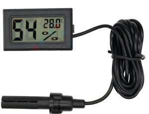DIGITAL INCUBATOR HUMIDITY METER THERMOMETER FOR EGG HATCHING CHICKS WITH PROBE