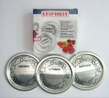 Leifheit Replacement Sealing Discs For Preserving Jars, 12 Pack, Wide Mouth