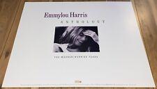 EMMYLOU HARRIS PROMO POSTER FOR ANTHOLOGY WARNER REPRISE - Folk, Bluegrass, Pop
