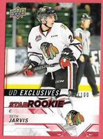 2018-19 Seth Jarvis Upper Deck CHL Rookie Exclusives 080/100 - Hurricanes