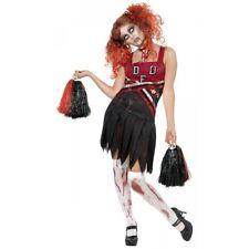 High School Horror Cheerleader Costume, Red & Blac Costume Halloween