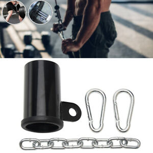 """Metal Weight Lifting T-bar Row Platform Eyelet Attachment for 2"""" Olympic Bar"""