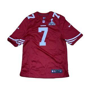 Nike San Francisco 49ers Colin Kaepernick Super Bowl On Field Jersey Sz Large