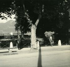 France Haute Savoie Annecy Canal Vasse old Possemiers Stereo Photo 1920