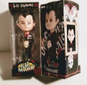 Lou Sapphire Living Dead Doll Head Knocker NECA BOBBLE RARE BRAND NEW RETIRED