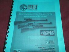 HENRY, Lever Action, .22lr/ .22mag/ .17hmr, Instruction Manual,   13 Pages