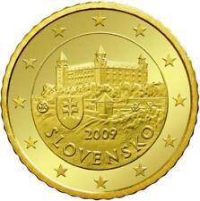 Monnaie 50 centimes cent cts euro Slovaquie 2009, neuves du rouleau, UNC