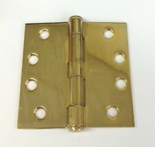 """(3) Stanley Heavy Duty Architectural 4"""" Bight Brass Square Door Hinges - Usa"""