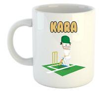 Kara - Cricket Personalizado Taza - Regalo para - Cenizas, Copa Del Mundo, Hobby