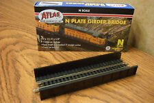 ATLAS N SCALE CODE 80 PLATE GIRDER BRIDGE nickel silver rail