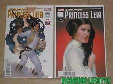 Star Wars Princess Leia #1 (2015) Marvel 1st Print & 1:15 Movie Photo Variant NM