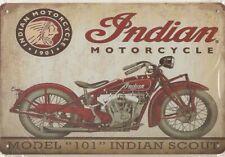 Blechschild Indian MOTORCYLLE  30x20-Original-Sammelauflösung-Neu-Metallschild