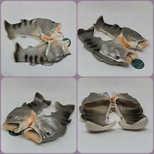 Fishy Sandles - Flip flops - UK Size - 6 - Diabolical Gift people - Joke Funny