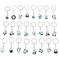 2Pcs Panda Keychain Keyring Bag Phone Hanging Pendant Key Ring Chain Gift.BDAU