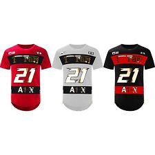 NEW Men Ferrari Shirt Side Zipper Longline Shirts 3D Gold Foil 3 Colors S-2XL