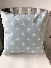 """Clarke & Clarke Buzzy Bees Duck Egg Fabric Vintage Shabby Chic 16"""" Cushion Cover"""