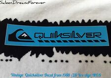 VINTAGE QUICKSILVER STICKER DECAL NOS SURF SURFING BEACH WEAR SKATE BOARDING