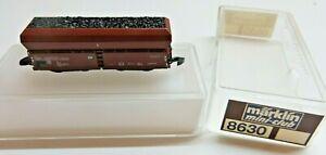 Märklin Z Gauge Mini Club 8630 Self-Unloading With Coal Loading DB Boxed