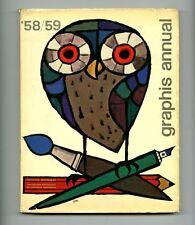 1958 Andy Warhol GRAPHIS ANNUAL Paul RAND Saul BASS Ladislav SUTNAR Le Corbusier