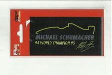 ADESIVO VINTAGE STICKER michael schumacher collection  mod6