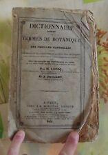 ancien Dictionnaire Raisonné des Termes  Botanique Famille LECOQ 1834 Broché