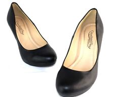 City Classified Comfort Womens Black High Heel Dress Pumps Sz 8 1/2