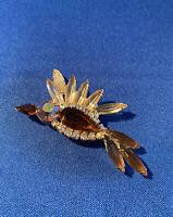 Vintage Juliana D&E Shades of Topaz Rhinestone Figural Flying Bird Brooch/Pin