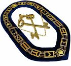 Blue Lodge Working Tool Golden Collar Chain + Treasurer KEY Pendant DMR-400GB+TK