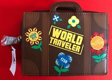 Disney Parks It's A Small World Traveler Suitcase Luggage Zippered Pouch Bag