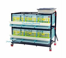 Duplex Six Compartment Quail Egg & Farming Cage, First in world Patented design