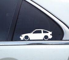 2X Lowered car outline JDM stickers - For Honda CRX Si (AF 1984–1987) 1g,1st gen