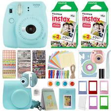 Fujifilm Instax Mini 9 Instant Film Camera Ice Blue with Fujifilm Instax 40 Film