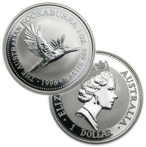 AUSTRALIA KOOKABURRA 1996 1 ONZA OZ PLATA SILVER ´999 1 $