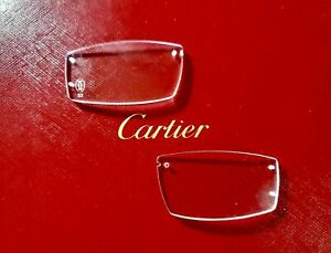 Authentic Cartier Replacement Glass Lenses For C Decor Metal Rimless Frame