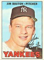 1967 Topps Set Break #393 Jim Bouton New York Yankees Baseball Card