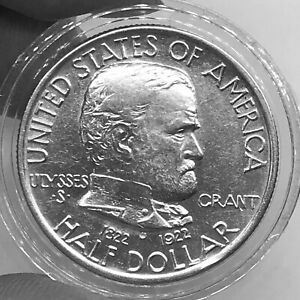 USA 1/2$ 1922 100th Anniversary of the Birth of Ulysses Grant KM#151 Silver aVF+