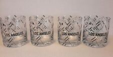 (4) RARE ▪ HARD TO FIND ▪ LOS ANGELES ▪ COCKTAIL LOWBALL GLASSES ▪ BARWARE