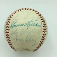 Rare 1961 All Star Game Team Signed Baseball Mickey Mantle & Roger Maris JSA COA
