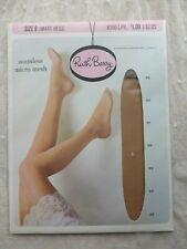1 Vintage Ruth Barry Seamless Mirco Mesh 100% Nylon Hosiery Size 9 Smart Beige