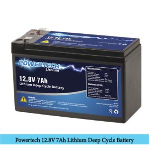 Powertech 12.8V 7Ah Lithium Deep Cycle Battery