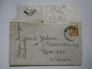 1925 KENYA & UGANDA, KITALE COVER with CONTENT