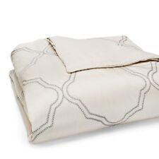 Hudson Park Collection Verraine FULL/QUEEN Embroidered Duvet Cover Cream D1757