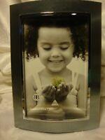 "Burnes of Boston Elegant Picture Frame Silver-Tone 4"" x 6"" Photo Felt Back   396"