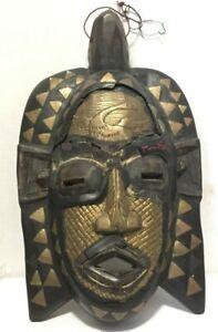 Antique African Tribal Carved Wood Face Mask African Masks Decorative Wall Masks