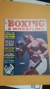 Boxing + Wrestling Magazine. Complete Sports. Feb. 1963. Sonny Liston Cover.